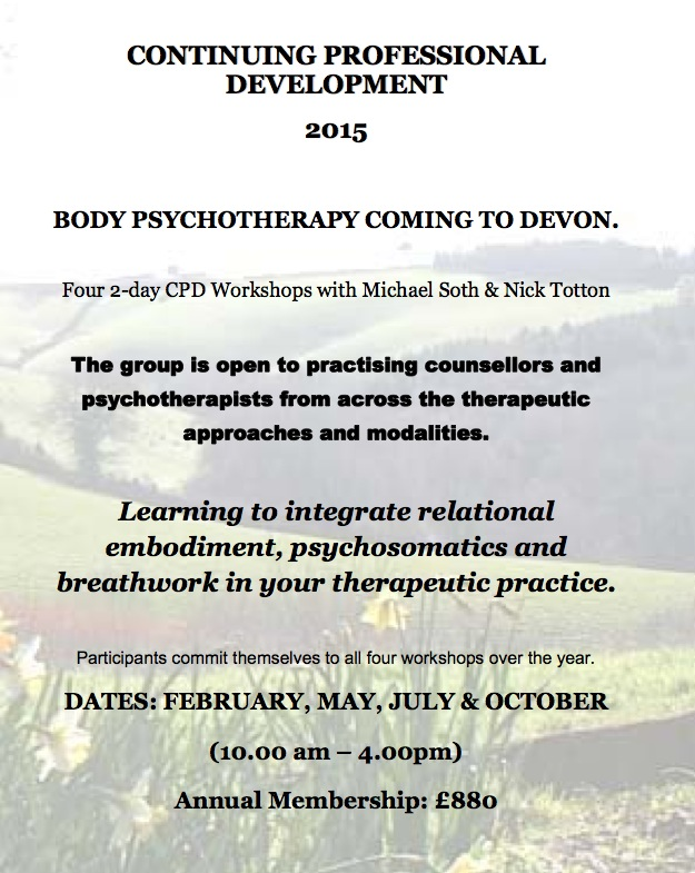 Body-oriented CPD Weekend Group in Exeter - Weekend 1 @ EAST DOWN Centre | Dunsford | United Kingdom